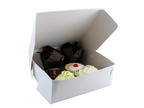11 x 11 x 4 inch Folding Cake Box - GM Packaging (UK) Ltd