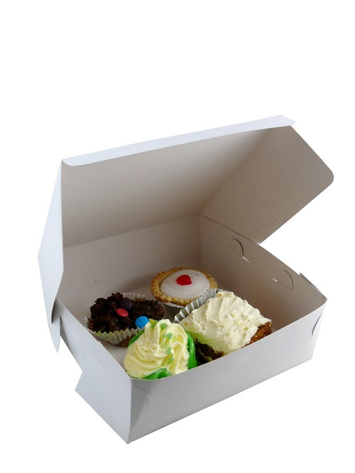 "8 x 8 x 3"" Quick Service Cake Boxes - GM Packaging UK Ltd"