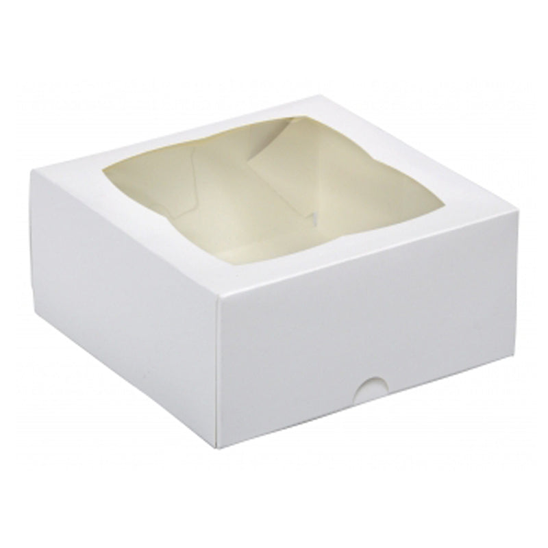 "7x7x3"" Cake Box with Window - GM Packaging (UK) Ltd"