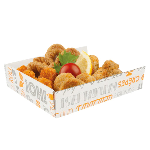 "15x12x3.5cm Cardboard Trays ""Parole"" - GM Packaging (UK) Ltd"