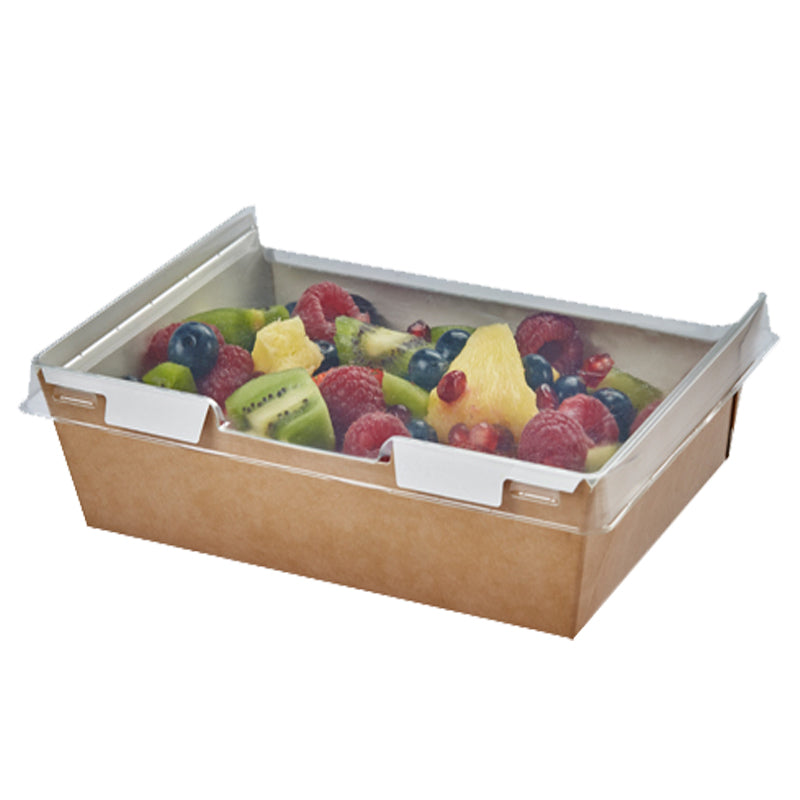 910ml Combione Kraft tray with rPET Lid - GM Packaging (UK) Ltd