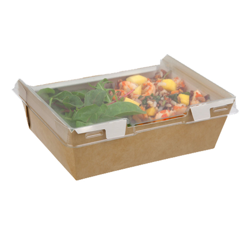 1280ml Combione Kraft tray with rPET Lid - GM Packaging (UK) Ltd