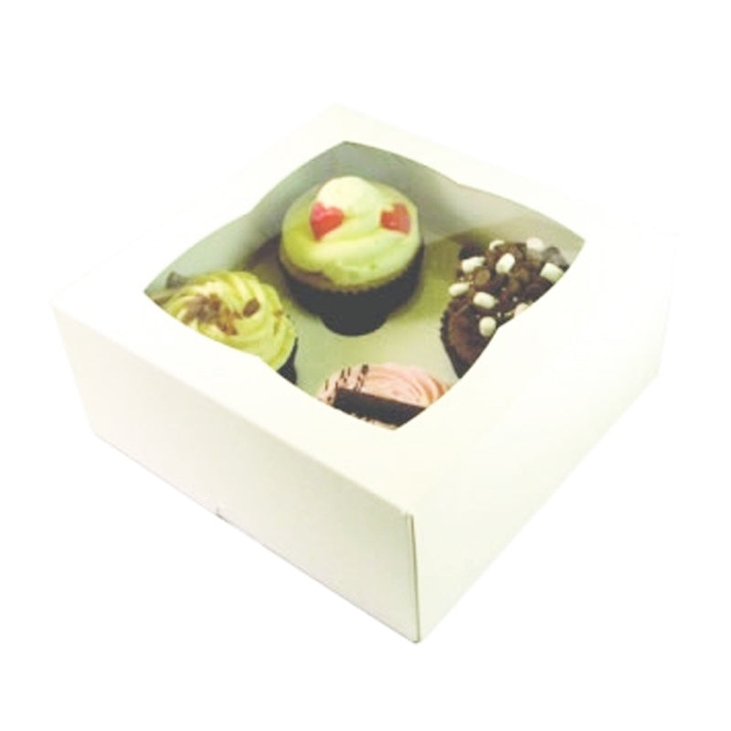 4 Cupcake Box with Window - GM Packaging (UK) Ltd