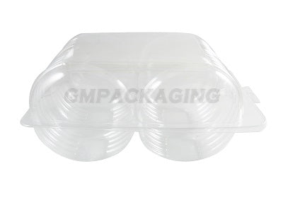 4 Doughnut Containers (Hinged Lid) - GM Packaging (UK) Ltd