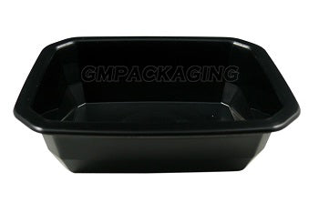450cc PP Black Food Lidding Tray/1020s