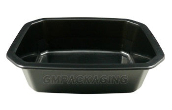 520cc PP Black Food Lidding Tray - GM Packaging (UK) Ltd