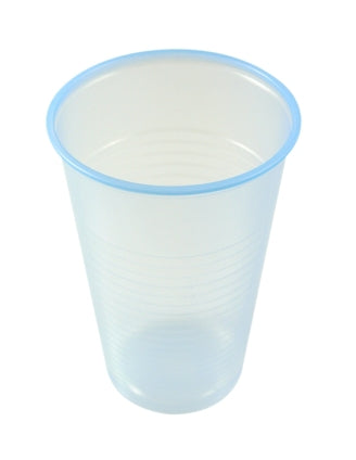 7oz Tall Blue Plastic Non Vending Cups - GM Packaging (UK) Ltd