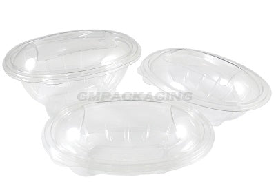 370cc Oval Plastic Salad Container SLV - GM Packaging (UK) Ltd