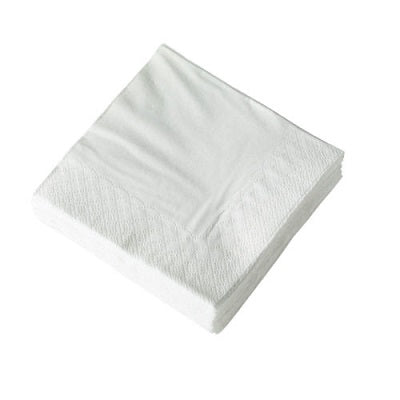 25cm 2 Ply Cocktail White Napkins