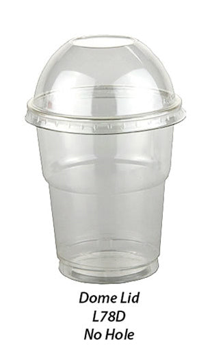 Plastic Dome Lid no hole to fit 7oz Sundae Cups