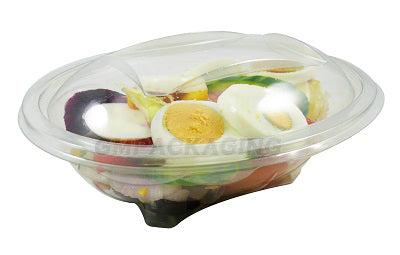 500cc Oval Plastic Salad Container - GM Packaging (UK) Ltd