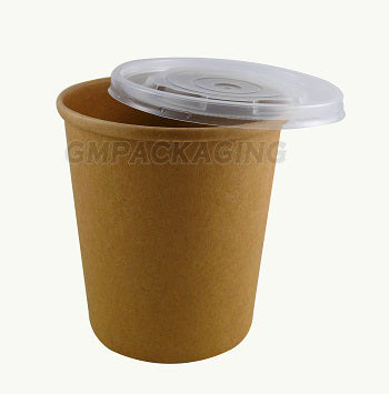 32oz Kraft Soup Containers - GM Packaging (UK) Ltd