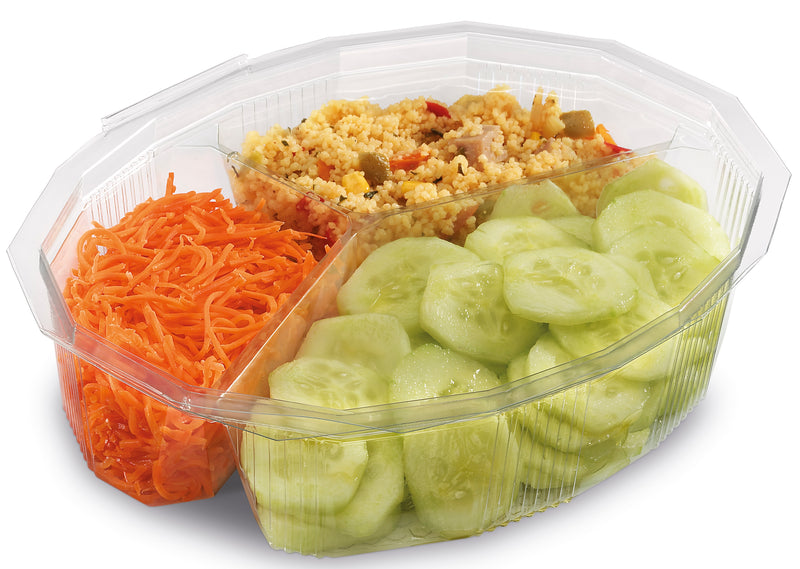 3 Compartment Plastic Salad Bowls - GM Packaging (UK) Ltd