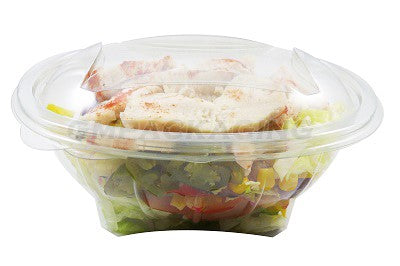 750cc Oval Plastic Salad Container SLV