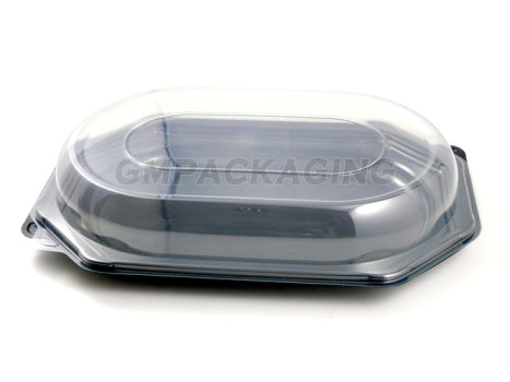 Clear Plastic Lid to fit Small Octagonal Catering Platters - GM Packaging (UK) Ltd