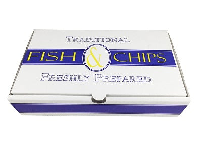 Small Print Fish and Chips Box 'Traditional' - GM Packaging (UK) Ltd