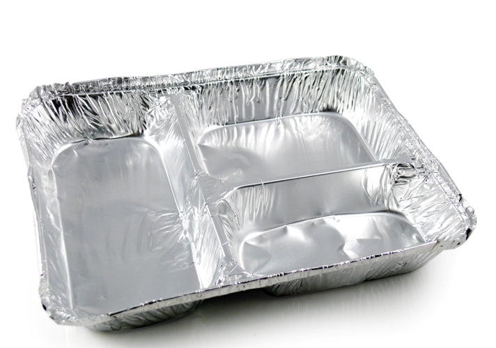 3 Compartment Foil Containers - GM Packaging (UK) Ltd