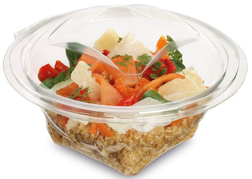 750cc Round Plastic Salad Containers - GM Packaging (UK) Ltd