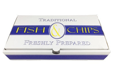 Medium Print Fish and Chips Box 'Traditional' - GM Packaging (UK) Ltd