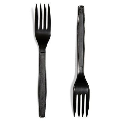 Black Medium Duty Plastic Fork