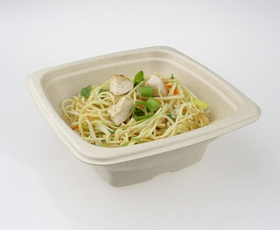 500ml Square Bagasse Bowls - GM Packaging (UK) Ltd