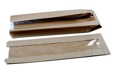 "4x6x14"" Kraft Film Fronted Baguette Bags - GM Packaging (UK) Ltd"