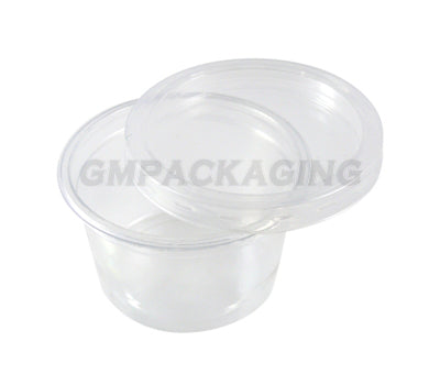 4oz Clear Plastic Souffle Dip Pots - GM Packaging (UK) Ltd