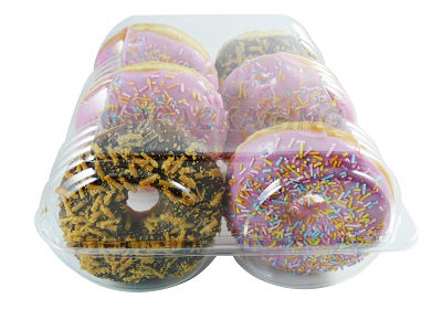6 Doughnut Containers - GM Packaging (UK) Ltd
