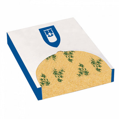 28x34cm Greaseproof Burger Wraps Paper 'Feel Green' - GM Packaging (UK) Ltd