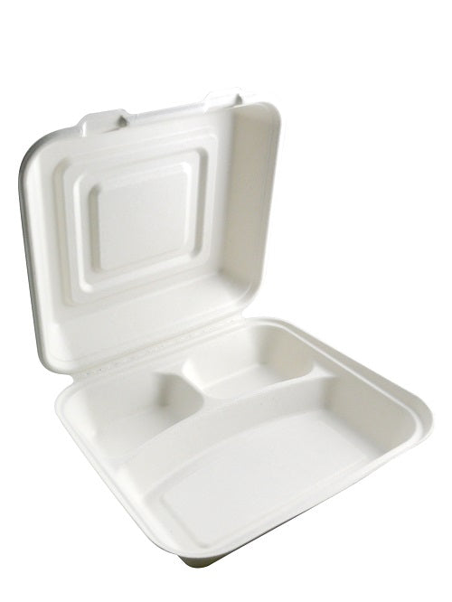 3 Compartment Biodegradable Food Boxes - GM Packaging (UK) Ltd