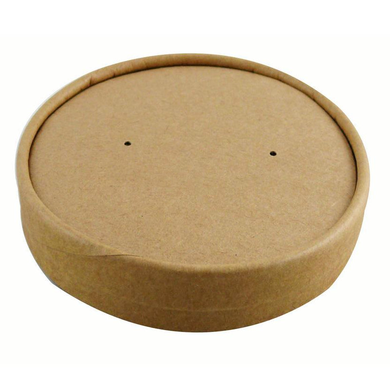 26/32 oz Kraft Vented Soup Lids - GM Packaging (UK) Ltd