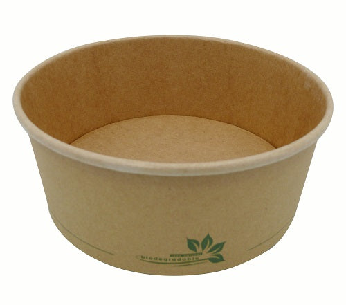 750ml biodegradable PLA kraft salad bowls - GM Packaging