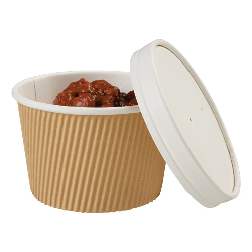 450ml Kraft Ripple Paper Soup Containers - GM Packaging (UK) Ltd