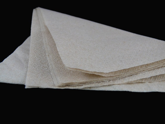 33cm 2Ply Unbleached Recycled Napkins - GM Packaging (UK) Ltd
