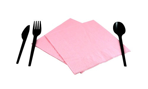 2 Ply Pink Napkins - GM Packaging (UK) Ltd
