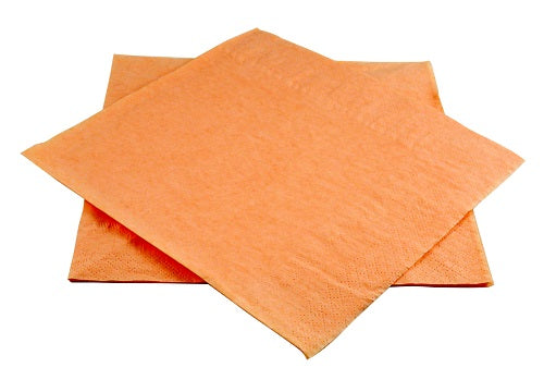 40cm 2ply Peach Paper Napkins - GM Packaging (UK) Ltd