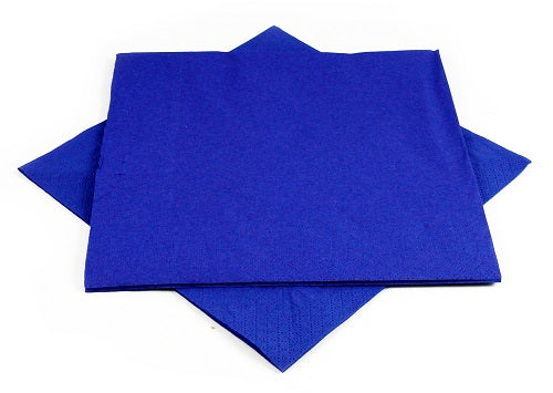 2 Ply Navy Blue Napkins - GM Packaging (UK) Ltd