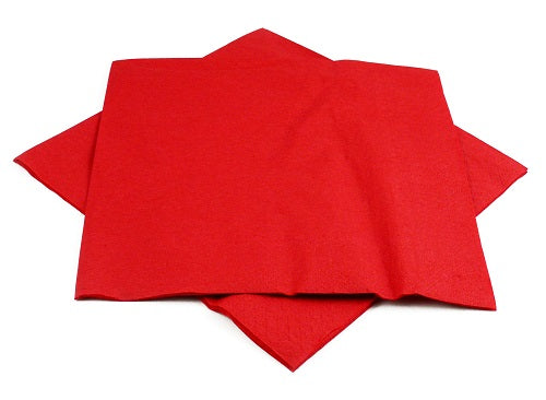 2 Ply Red Napkins - GM Packaging (UK) Ltd