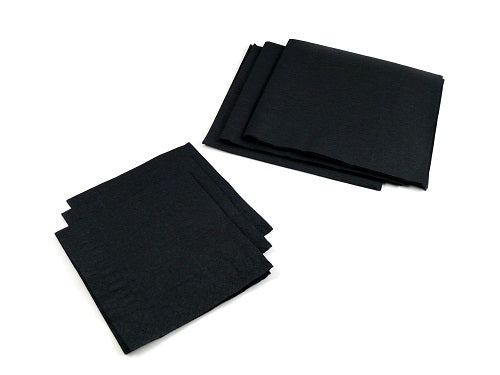 25cm 2 Ply Cocktail Black Napkins - GM Packaging (UK) Ltd