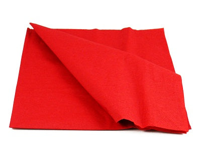 40cm 2ply Red Paper Napkins - GM Packaging (UK) Ltd