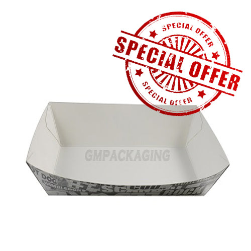 Large Cardboard Food Tray 'Newsprint' - GM Packaging (UK) Ltd