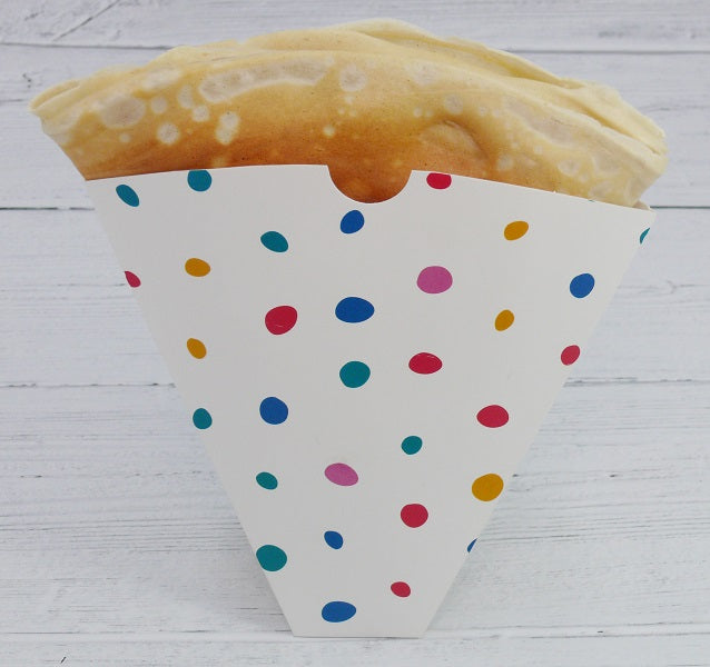 Dots Colour Paper Crepe Holders - GM Packaging (UK) Ltd