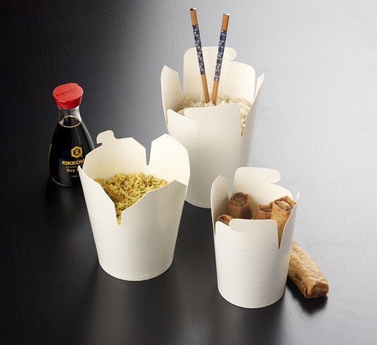 32oz Noodle Boxes (White) - GM Packaging (UK) Ltd