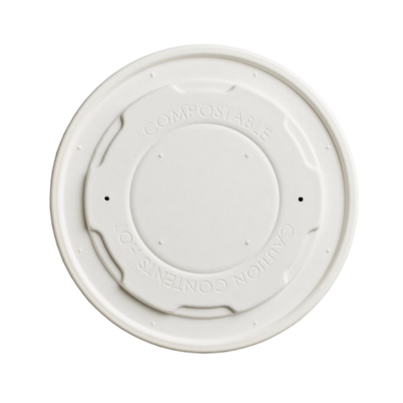 90mm paper compostable soup lid - GM Packaging UK Ltd