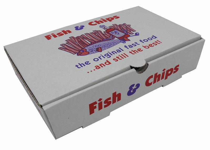 Fish and Chips takeaway box - GM Packaging UK Ltd