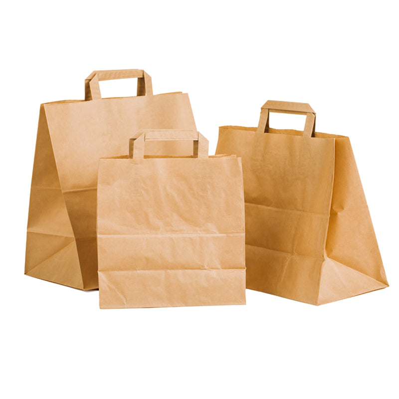 Kraft Patisserie Carrier Bags - GM Packaging UK Ltd