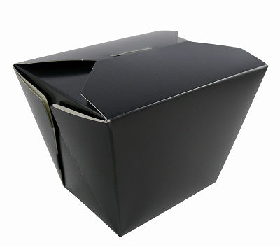 750ml Black Cardboard Food Box - GM Packaging (UK) Ltd