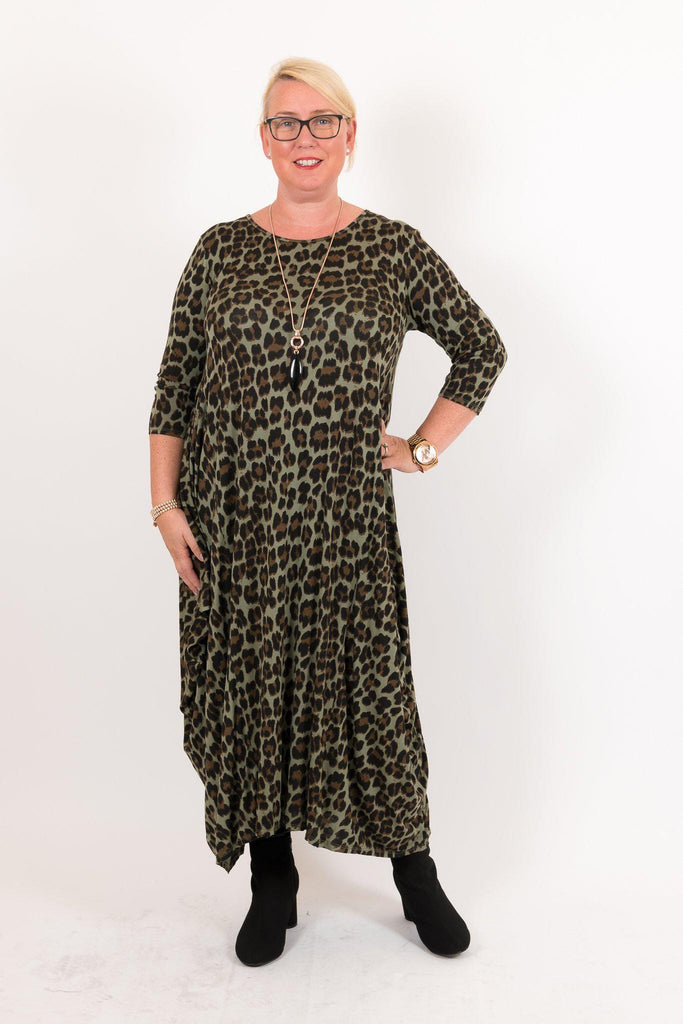 The Leopard Parachute Dress - Ruby & Daisy