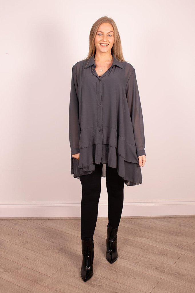 The Sheer Shirt Tunic - Ruby & Daisy