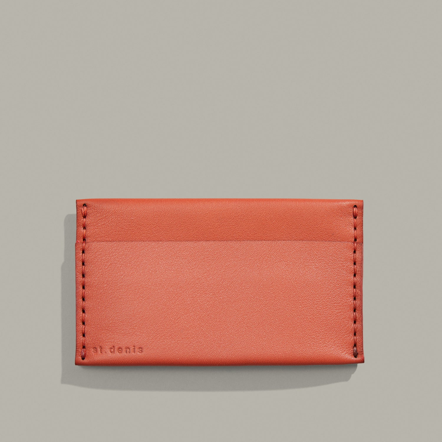 Porte-cartes triple Couleur terracotta